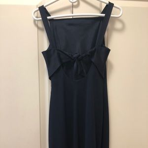 Elegant, slim bias-cut floorlength gown.